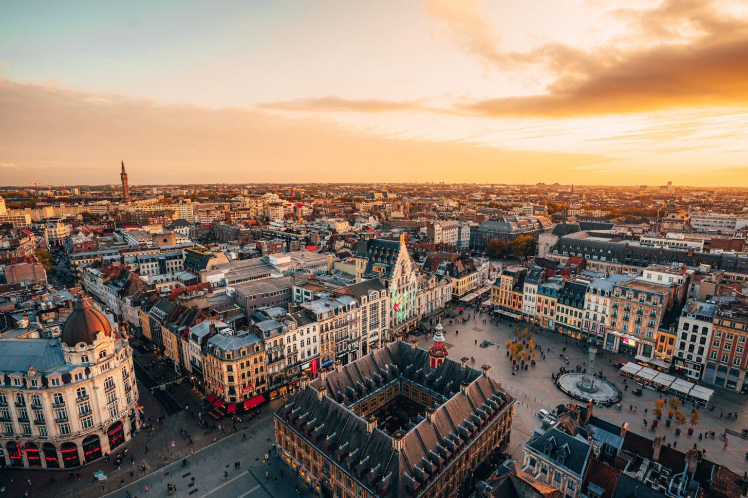 Vue aérienne de la Grand'Place de Lille